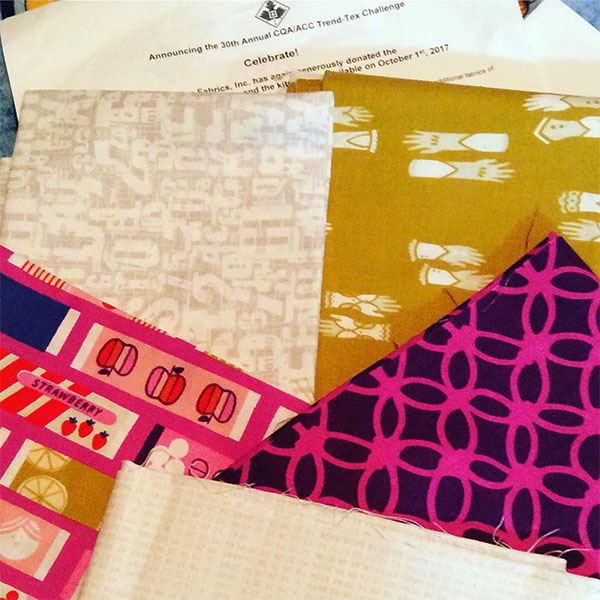 Five great Trendtex fabrics and rules for the challenge at Quilt Canada 2018
