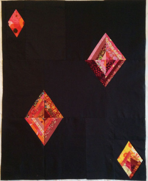 Quilt top based on Create your own improv quilts