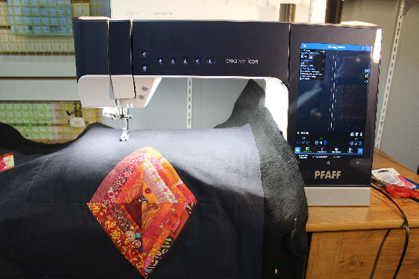Quilting using the PFAFF creative icon