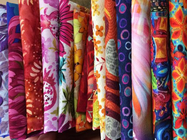 Warm tone fabrics