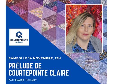 Special Presentation for Courtepointe Quebec Quilt Association