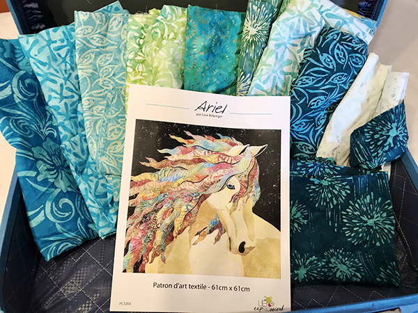 One of my quilt challenge: Ariel Art Quilt pattern by Lise Bélanger